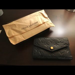 Louis Vuitton Monogram Empreinte Noir Wallet
